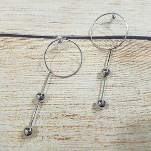💎BOGO NEW Silver Tone Geometric Dangle Earrings